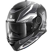 SHARK Spartan 1.2 Antheon Mat Noir-Blanc-Noir KWK