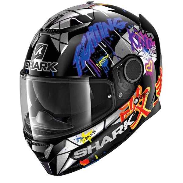 SHARK Spartan 1.2 Rep. Lorenzo Catalunya GP Zwart-Rood-Glitter KRX