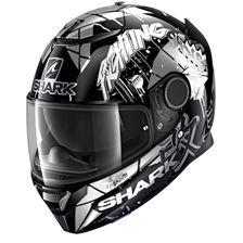 SHARK Spartan 1.2 Rep. Lorenzo Catalunya GP Noir-Blanc-Glitter KWX
