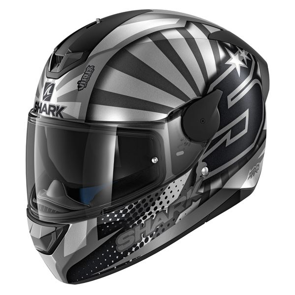 SHARK D-Skwal 2 Replica Zarco 2019 Mat Anthracite-Argent-Anthracite ASA