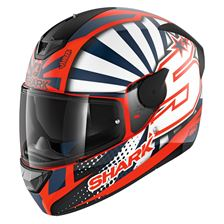 SHARK D-Skwal 2 Replica Zarco 2019 Mat Orange-Blanc-Bleu OWB