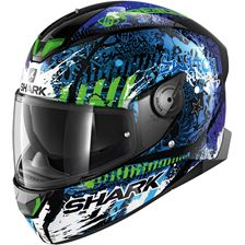 SHARK Skwal 2.2 Rep. Switch Riders 2 Noir-Bleu-Vert KBG