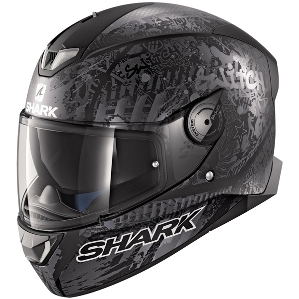 SHARK Skwal 2.2 Rep. Switch Riders 2 Mat Noir-Anthracite-Argent KAS
