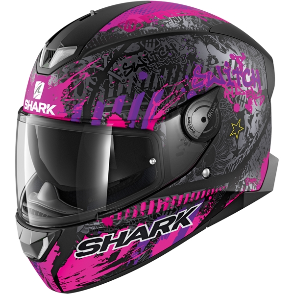 SHARK Skwal 2.2 Rep. Switch Riders 2 Lady Mat Zwart-Paars-Paars KVV