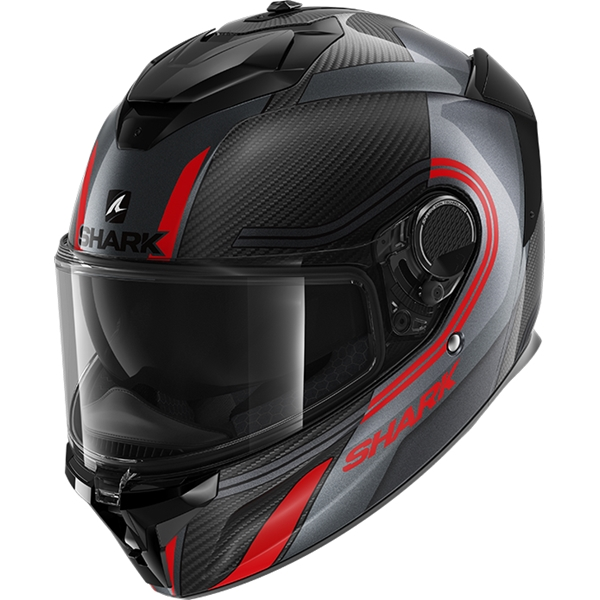 SHARK Spartan GT Carbon Tracker Carbon-Anthracite-Rouge DAR