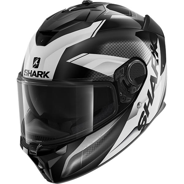 SHARK Spartan GT Elgen Noir-Anthracite-Blanc KAW