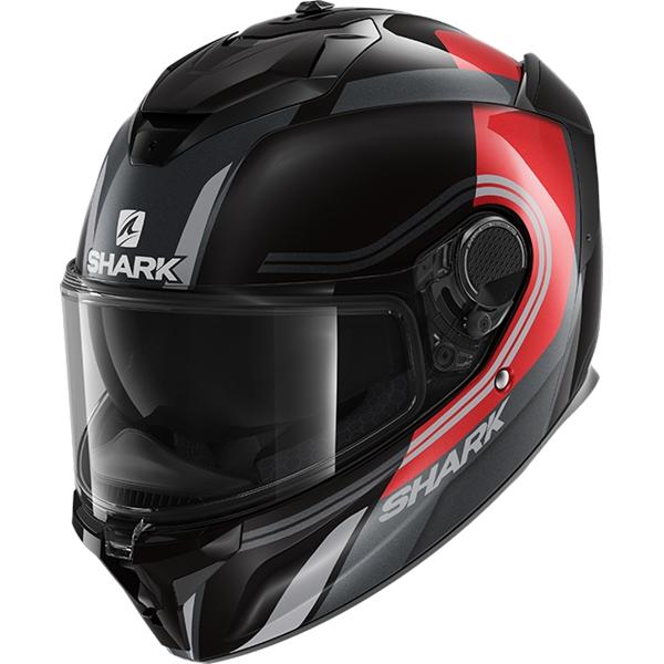 SHARK Spartan GT Tracker Noir-Rouge-Argent KRS