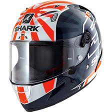 SHARK RACE-R Pro Replica Zarco 2019 Blauw-Wit-Oranje BWO