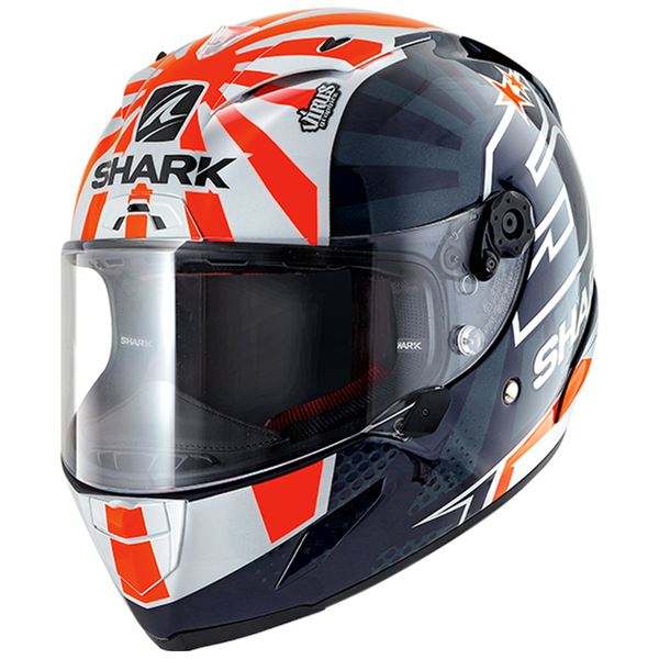 SHARK RACE-R Pro Replica Zarco 2019 Bleu-Blanc-Orange BWO
