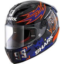SHARK RACE-R Pro Rep. Lorenzo Catalunya GP 2019 Zwart-Rood-Blauw KRB