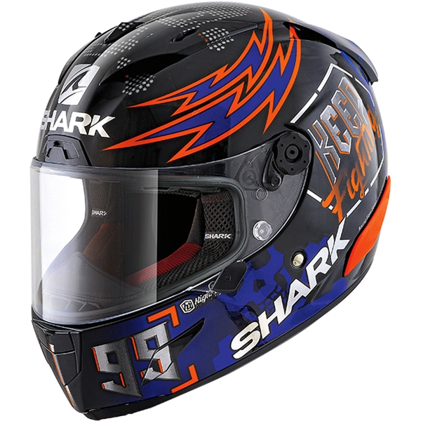 SHARK RACE-R Pro Rep. Lorenzo Catalunya GP 2019 Noir-Rouge-Bleu KRB