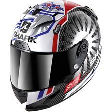 SHARK RACE-R Pro Carbon Rep. Zarco GP France 2019 Carbon-Chrome-Rouge DUR