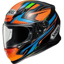 SHOEI NXR Stab Orange-Bleu-Noir TC-8