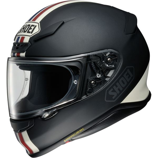 SHOEI NXR Equate Mat Noir-Blanc-Rouge-Bleu TC-10