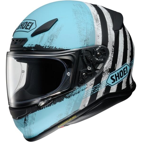 SHOEI NXR Shorebreak Mat Blauw-Zwart-Wit TC-2