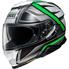 SHOEI GT-Air II Haste Vert-Blanc-Argent TC-4