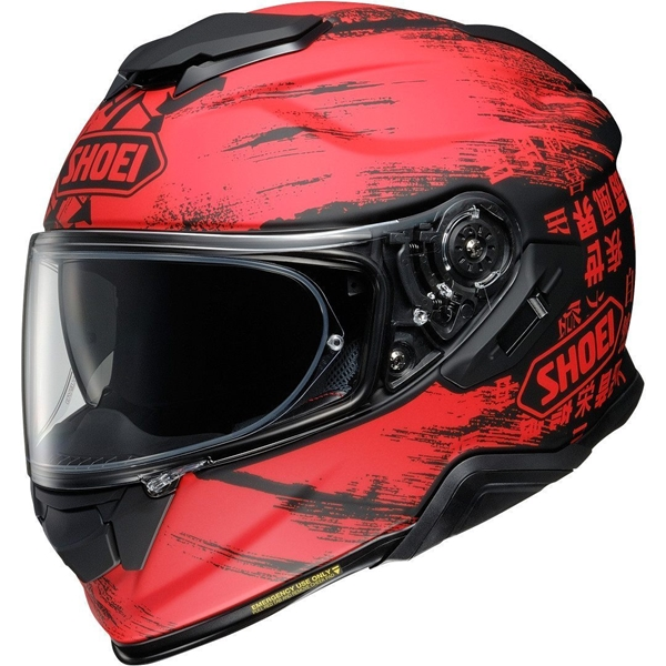 SHOEI GT-Air II Ogre Mat Zwart-Rood TC-1