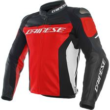 DAINESE Racing 3 Rood-Zwart-Wit