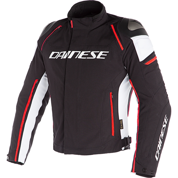 DAINESE Racing 3 D-DRY® Noir-Blanc-Rouge Fluo