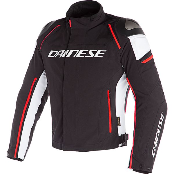 DAINESE Racing 3 D-DRY® Zwart-Wit-Fluo Rood