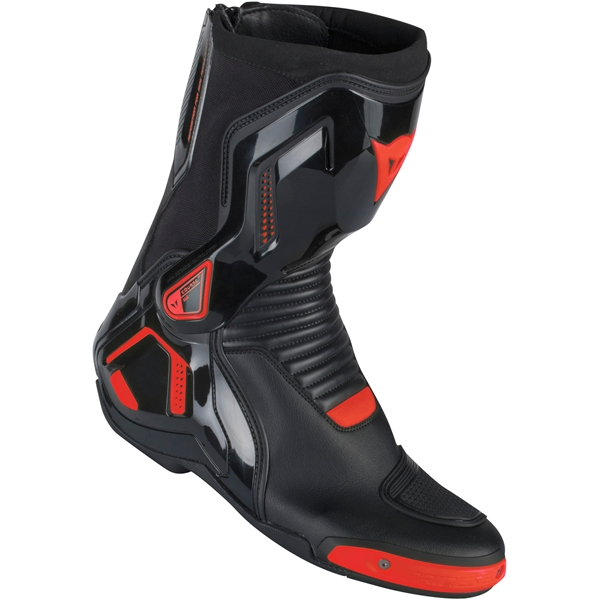 DAINESE Course D1 Out  Zwart-Fluo Rood