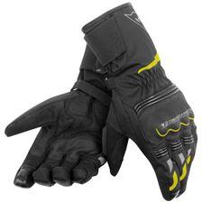 DAINESE Tempest D-DRY® Gloves Lang Zwart-Fluo-Geel