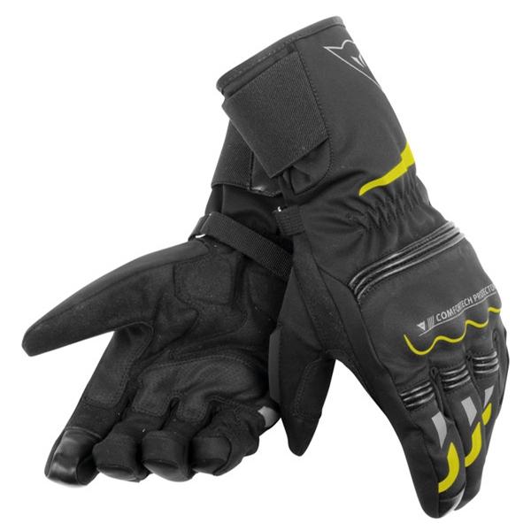 DAINESE Tempest D-DRY® Gloves Longue Noir-Fluo Jaune
