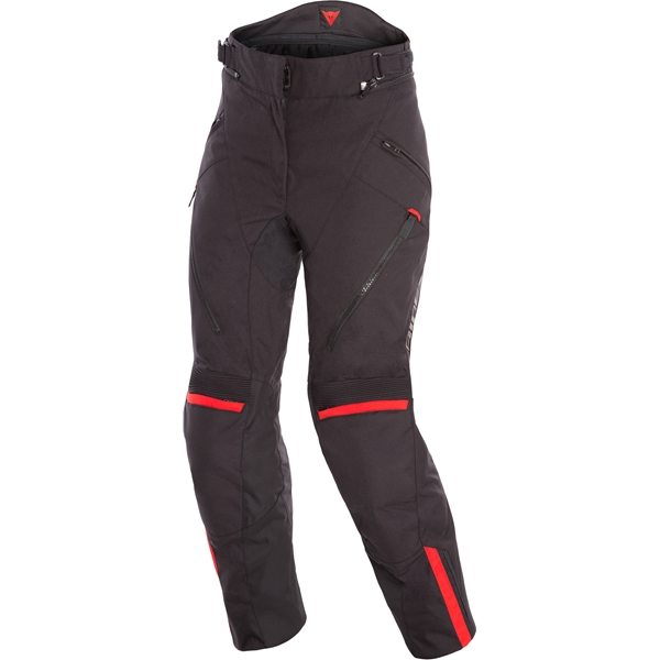 DAINESE Tempest 2 Lady Pants D-DRY® Zwart-Rood