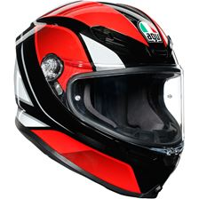AGV K6 Hyphen Zwart-Rood-Wit