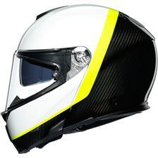AGV Sportmodular Ray Carbon-Blanc-Jaune Fluo