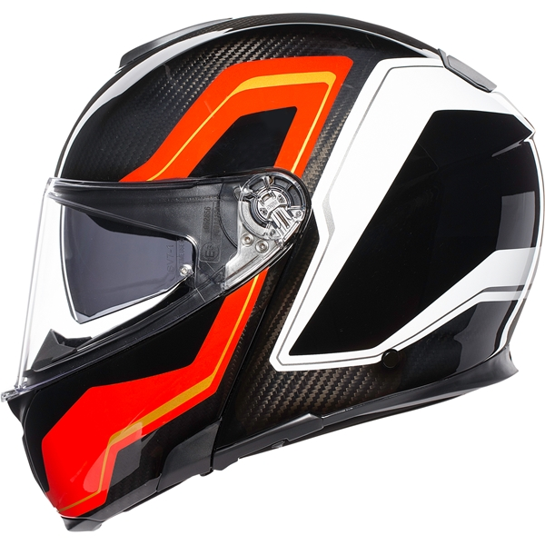 AGV Sportmodular Sharp Carbon-Rood-Wit