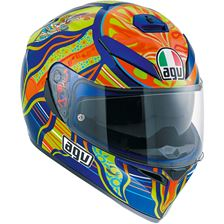 AGV K3 SV 5 Continents Bleu-Orange-Jaune