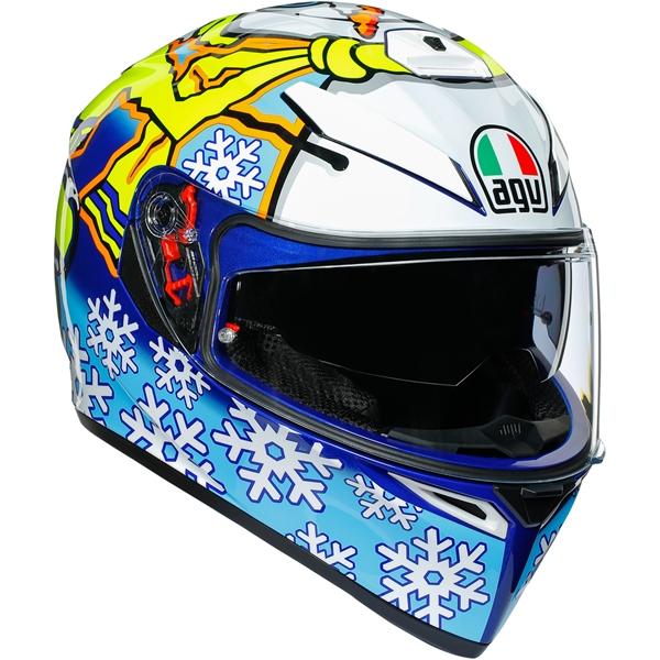 AGV K3 SV Rossi Winter Test 2016 Bleu-Blanc-Jaune