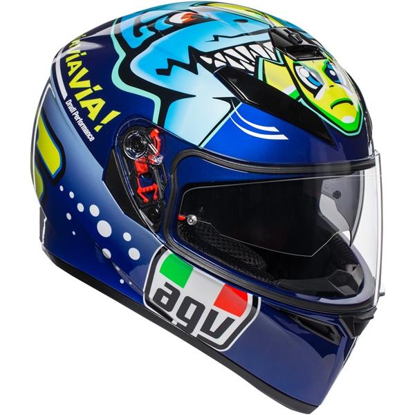 AGV K3 SV Rossi Misano 2015 Blauw-Groen-Geel
