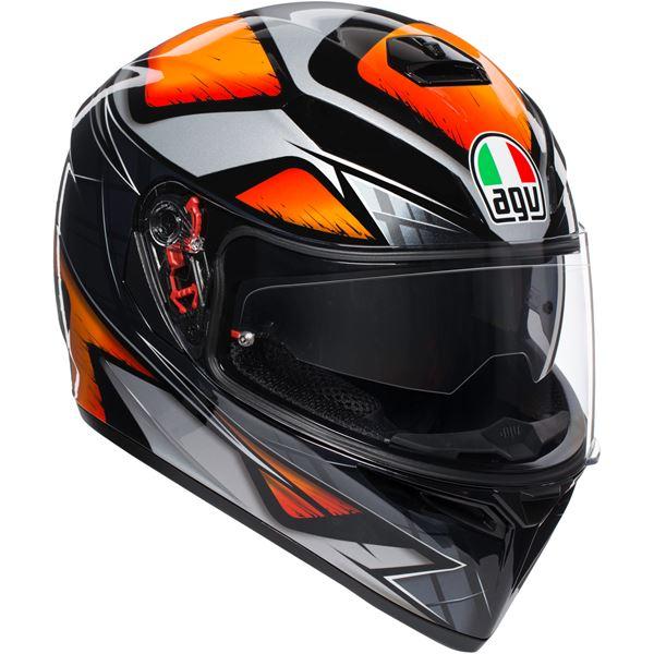 AGV K3 SV Liquefy Noir-Orange