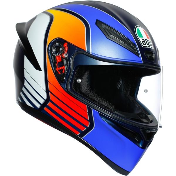 AGV K1 Power Mat Bleu foncé-Orange