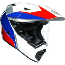 AGV AX9 Atlante Blanc-Blue-Rouge