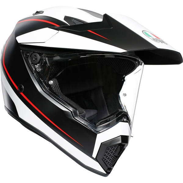 AGV AX9 Pacific Road  Mat Zwart-Wit-Rood