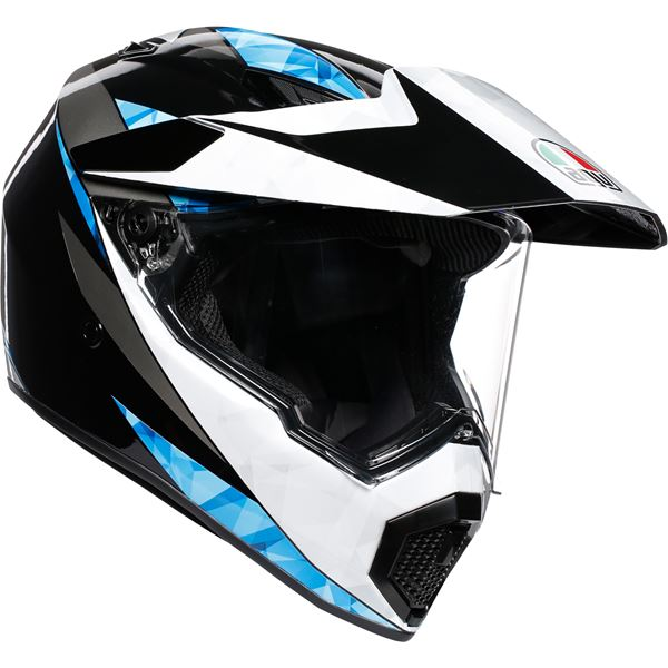 AGV AX9 North Zwart-Wit-Cyaan