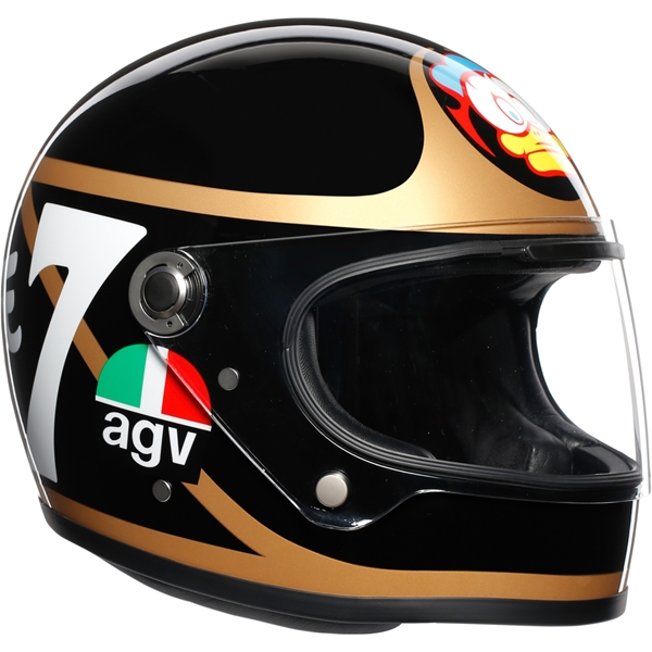 AGV X3000 Barry Sheene Zwart-Goud-Wit