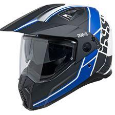 IXS iXS 208 2.0 Mat Zwart - Wit - Blauw