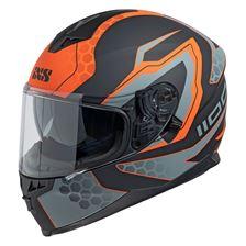 IXS iXS 1100 2.2 Mat Zwart - Oranje