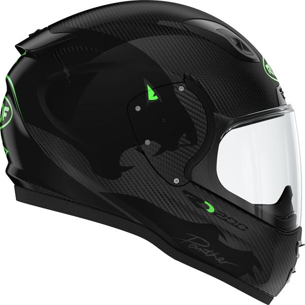 ROOF RO200 Carbon Panther Noir-Vert Fluo