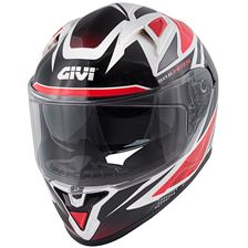 GIVI 50.6 Stoccorda Follow Zwart-Rood-Wit