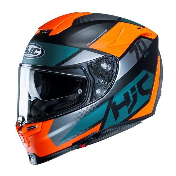 HJC RPHA-70 Debby Mat Grijs - Oranje - Blauw