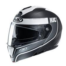 HJC I90 Davan Mat Noir - Blanc