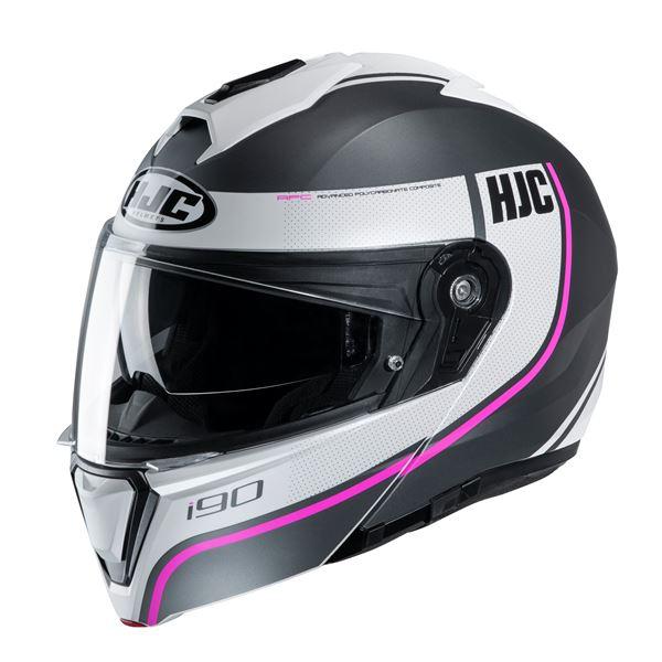 HJC I90 Davan Mat Zwart - Wit - Roze