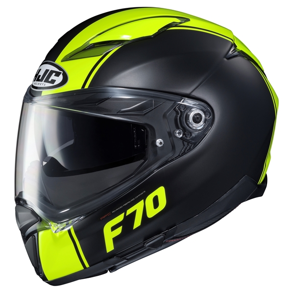 HJC F70 Mago Noir - Jaune Fluo