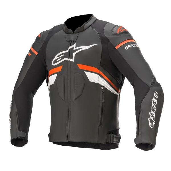 ALPINESTARS GP Plus R V3 Jacket Noir-Rouge Fluo-Blanc
