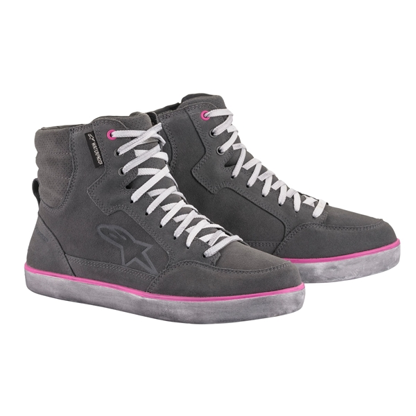 ALPINESTARS J-6 Waterproof Women's Shoe Gris Clair-Fuchsia